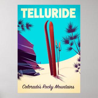 Telluride Ski Rocky Mountains Poster