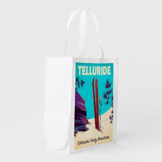 Telluride Ski Rocky Mountains Reusable Grocery Bag