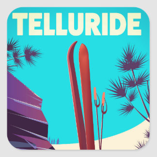 Telluride Ski Rocky Mountains Square Sticker