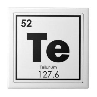 Tellurium chemical element symbol chemistry formul tile