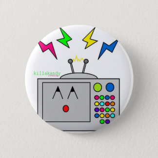 Telly Fright Badge :) 2 Inch Round Button