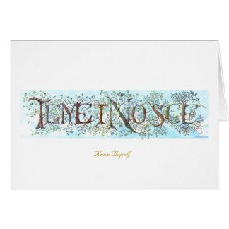 Temet Nosce Blank Card