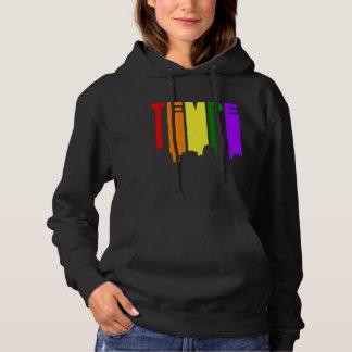Tempe Arizona Gay Pride Rainbow Skyline Hoodie