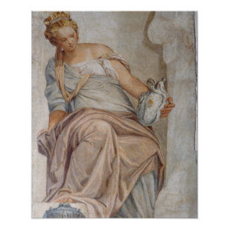 Temperance, from the wall of the sacristy (fresco) poster