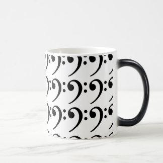 Temperature changing BASS CLEF Mug