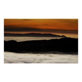 Temperature Inversion from Ben An,  Scotland Poster