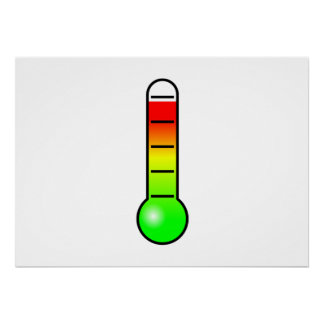 Temperature Thermometer Poster