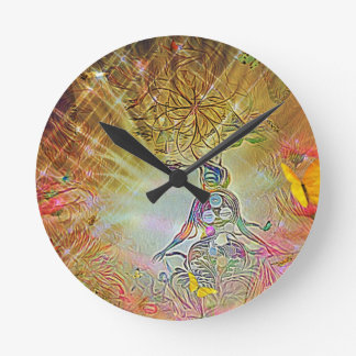 Temperence Round Clock