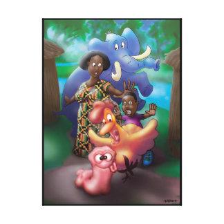 Tempest African Village Canvas Print