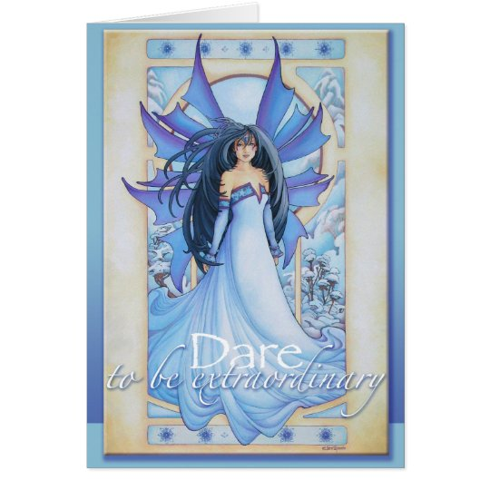 Tempest of Ice Winter Faery Card by Teri Rosario