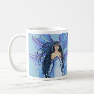 Tempest of Ice Winter Faery Mug by Teri Rosario