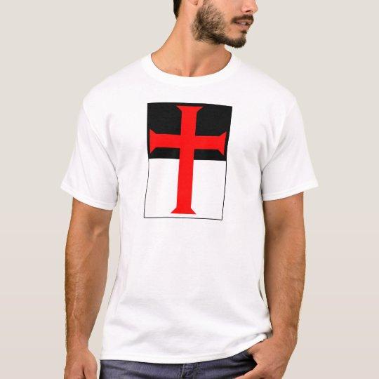 Templar Cross On Beausant T-Shirt