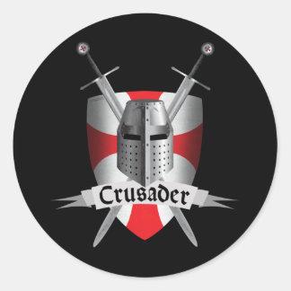 Templar - Crusader Arms Round Sticker
