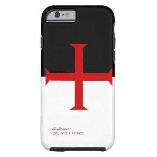 Templar Flag Case with your name Tough iPhone 6 Case
