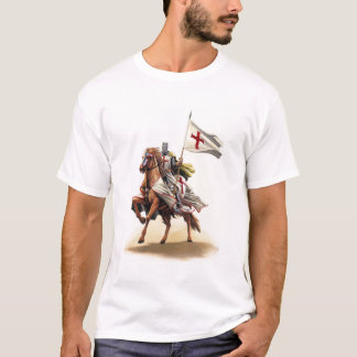 Templar Knight Crusader Jerusalem Cross T-Shirt