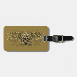 Templar Knight Gothic Medieval Skull with Wings Luggage Tag
