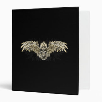 Templar Knight Gothic Medieval Skull with Wings Vinyl Binders