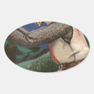 templar knight oval sticker