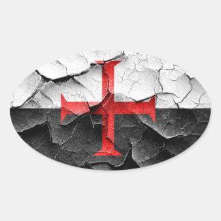Templar knight sticker