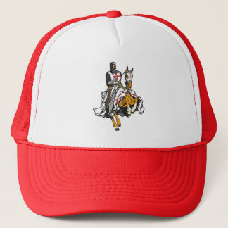 Templar knight trucker hat