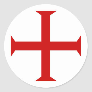 templar knights red cross malta teutonic hospitall classic round sticker