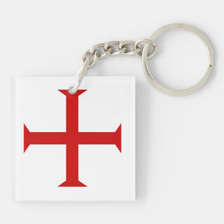 templar knights red cross malta teutonic hospitall keychain