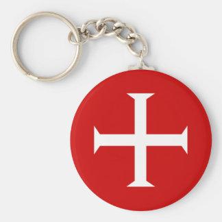 templar knights red cross malta teutonic hospitall keychain