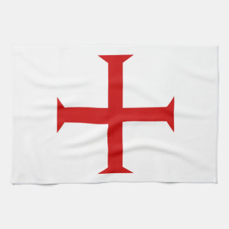 templar knights red cross malta teutonic hospitall kitchen towel