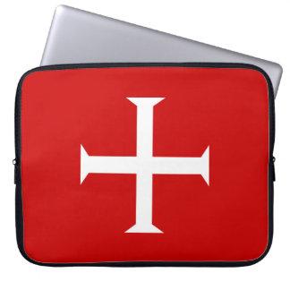 templar knights red cross malta teutonic hospitall laptop sleeve
