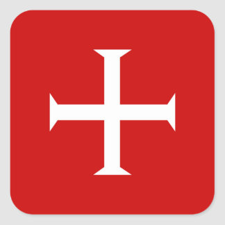 templar knights red cross malta teutonic hospitall square sticker