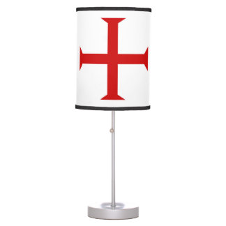 templar knights red cross malta teutonic hospitall table lamp