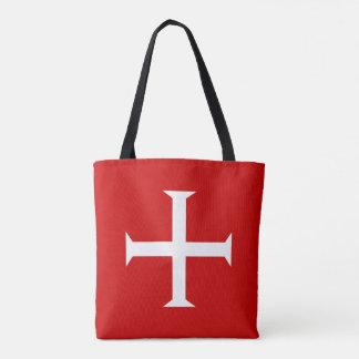 templar knights red cross malta teutonic hospitall tote bag