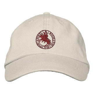 Templar knights seal - sigillo templari embroidered hat