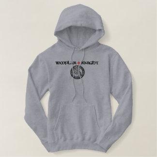 Templar knights seal - sigillo templari embroidered hoodie