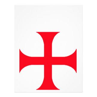 Templar red cross personalized letterhead