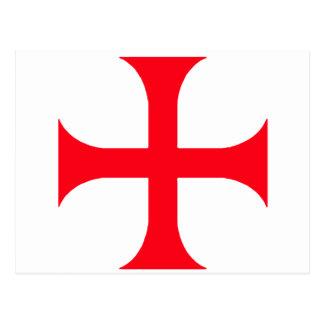 Templar red cross postcard