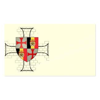 Templarii Belgium visiting cards No. 0130082013 Business Card