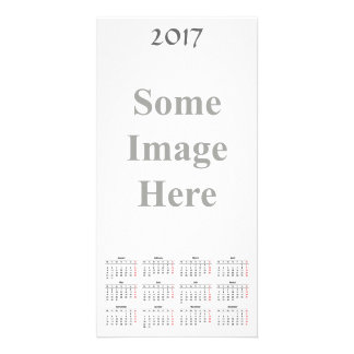 template 2017 Calendar Photo Card