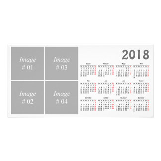 template  2018 Calendar Photo Card