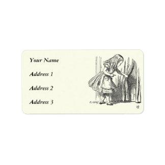 Template Alice Looking for the Door Address Label