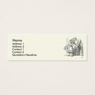 Template Alice Looking for the Door Mini Business Card