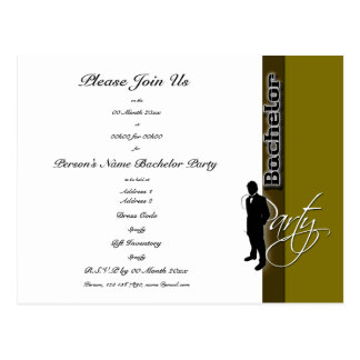 Template Bachelor party distinguished invitations