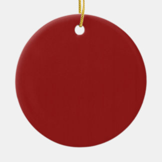 Template Blank Red Shade easily add text photo Ceramic Ornament