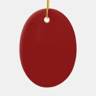 Template Blank Red Shade easily add text photo Ceramic Oval Ornament