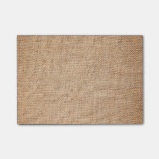 Template - Burlap Background Post-it Notes