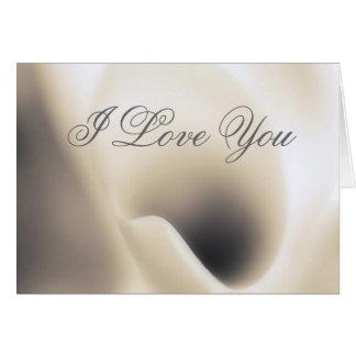 Template Card I Love You, Calla Lily macro beauty