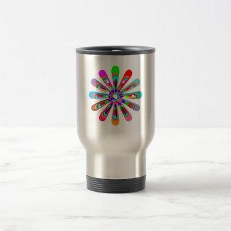 Template CHAKRA Style Art CUSTOMIZE add text image 15 Oz Stainless Steel Travel Mug