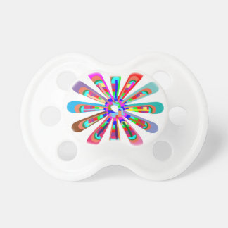 Template CHAKRA Style Art CUSTOMIZE add text image Baby Pacifier