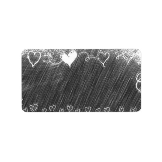 Template - Chalkboard Background with Hearts Label