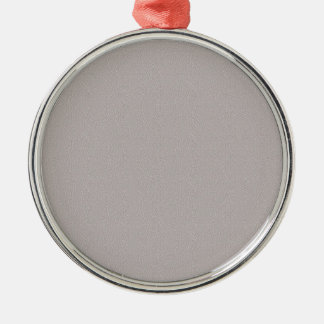 TEMPLATE Coloured Easy to ADD TEXT and IMAGE Silver-Colored Round Ornament